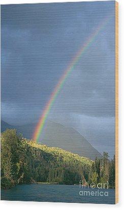 View Of Alaska Wood Print by Gloria & Richard Maschmeyer - Printscapes