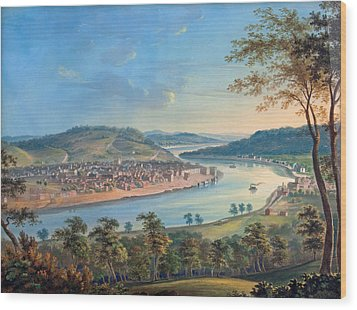 Wood Print featuring the painting View Of Cincinnati From Covington by John Caspar Wild