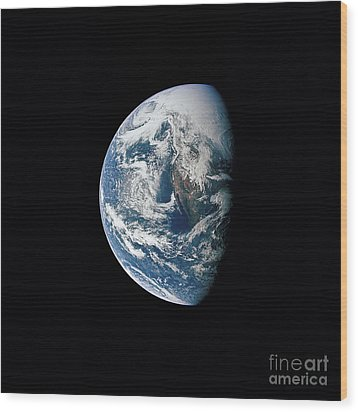 View Of Earth Taken From The Apollo 13 Wood Print by Stocktrek Images