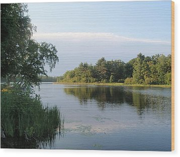Wood Print featuring the photograph View Of Hamlin Lake by Beth Akerman