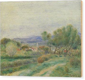 View Of La Seyne Wood Print by Pierre Auguste Renoir