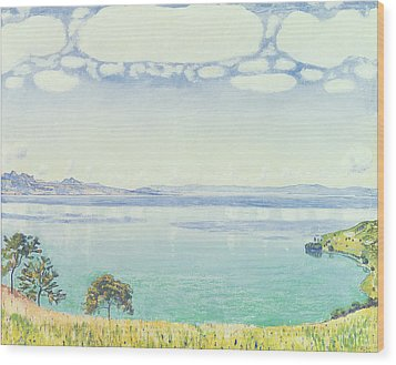 View Of Lake Leman From Chexbres Wood Print by Ferdinand Hodler
