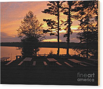 View Of Lake Naomi Wood Print by Addie Hocynec