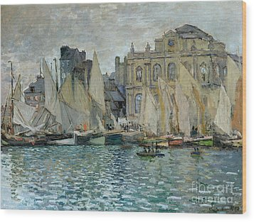 View Of Le Havre Wood Print by Claude Monet