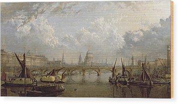 View Of London  Wood Print by John MacVicar Anderson