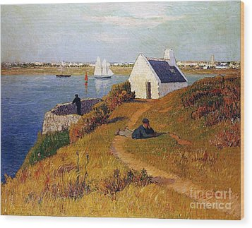 View Of Lorient In Brittany Wood Print by Henry Moret