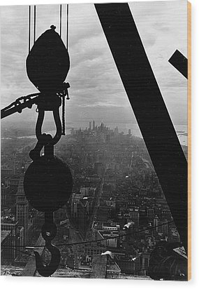 View Of Lower Manhattan From The Empire State Building Wood Print