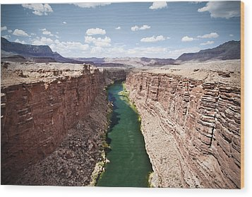 View Of Marble Canyon From The Navajo Bridge Wood Print by Ryan Kelly
