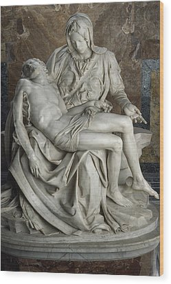 View Of Michelangelos Famous Sculpture Wood Print by James L. Stanfield