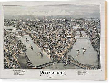 View Of Pittsburgh, 1902 Wood Print by Granger