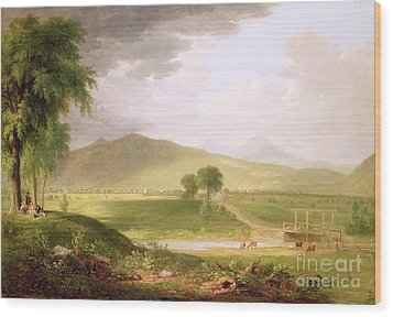 View Of Rutland - Vermont Wood Print by Asher Brown Durand