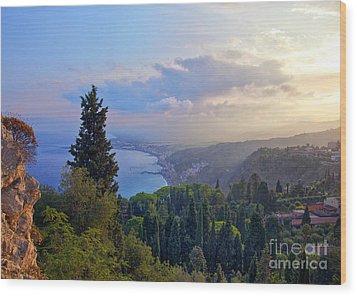 View Of Sicily Wood Print by Madeline Ellis