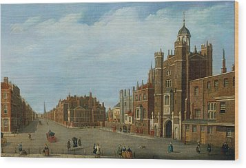 View Of St. James's Palace And Pall Mal Wood Print by William James