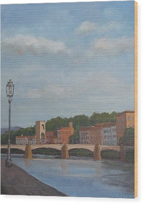 View Of The Arno 2 Wood Print