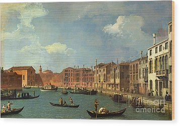 View Of The Canal Of Santa Chiara Wood Print by Canaletto