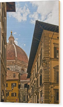 View Of The Duomo Wood Print
