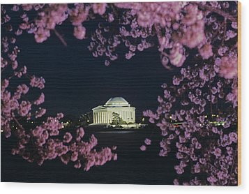 View Of The Jefferson Memorial Wood Print by Kenneth Garrett