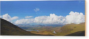 View Of The Kerry Landscape From Macgillycuddy's Reeks Wood Print by Semmick Photo