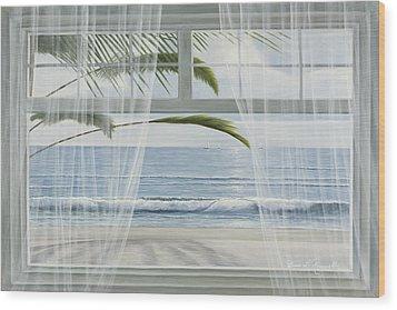 View Of The Tropics Wood Print