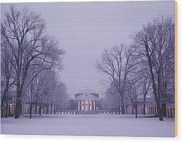 View Of The University Of Virginias Wood Print