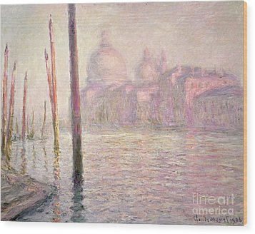 View Of Venice Wood Print by Claude Monet
