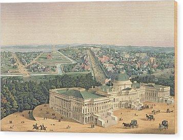 View Of Washington Dc Wood Print by Edward Sachse