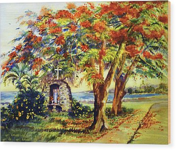 View To Aguadilla Bay Wood Print by Estela Robles