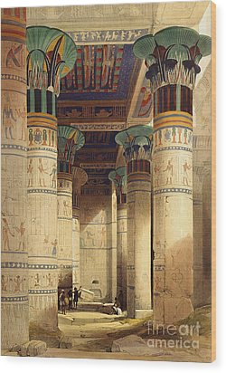 View Under The Grand Portico Wood Print by David Roberts