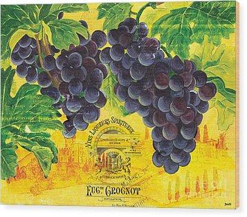 Vigne De Raisins Wood Print