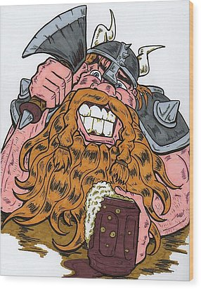 Viking Wood Print by Anthony Snyder