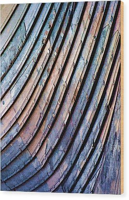 Viking Longship Bow Wood Print by Gareth Davies