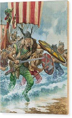 Vikings Wood Print by Pete Jackson