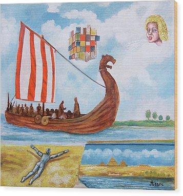 Vikings Wood Print by Rudolf  Zamazal