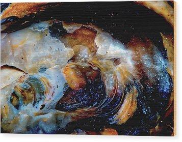 Vilano Sea Shell Constellation Wood Print by Gina O'Brien