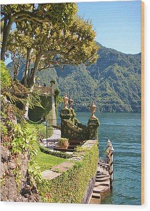 Villa Balbianello Marina Wood Print by Marilyn Dunlap