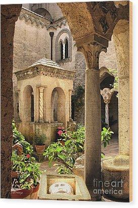 Villa Cimbrone. Ravello Wood Print by Jennie Breeze