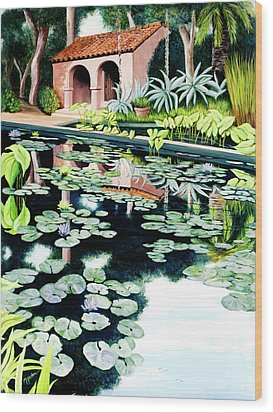 Lily's Pond - Prints Available In Large And Smaller Sizes Wood Print