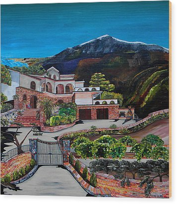Villa Maria Wood Print by Patti Schermerhorn