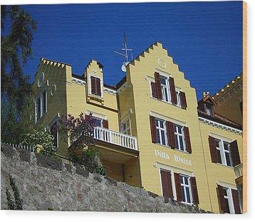Villa Weiss Wood Print by Juergen Weiss