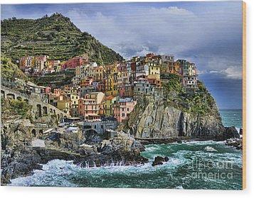 Village Of Manarola - Cinque Terre - Italy Wood Print by JH Photo Service