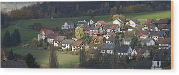 Village Of Residential Homes In Germany Wood Print by Greg Dale