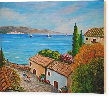 Village Perigiali / Greece Wood Print