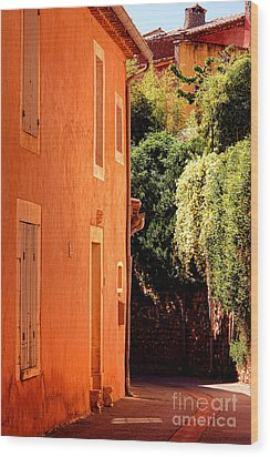 Wood Print featuring the photograph Village Street In Provence by Olivier Le Queinec