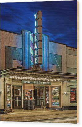Village Theater Wood Print by Jerry Gammon