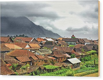 Wood Print featuring the photograph Village View by Charuhas Images
