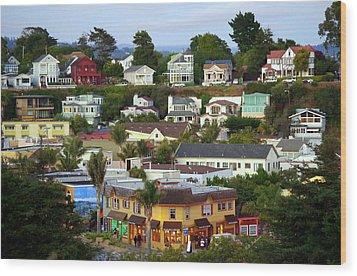Village View  Sig Wood Print