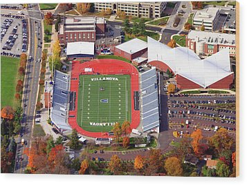 Villanova Stadium 800 East Lancaster Avenue Jake Nevin Fieldhouse Villanova Pa 19085  Wood Print by Duncan Pearson