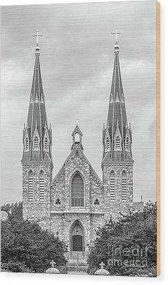 Villanova University St. Thomas Of Villanova Church Wood Print by University Icons