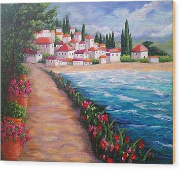 Villas By The Sea Wood Print