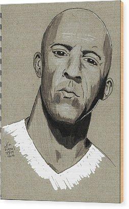 Vin Diesel Wood Print